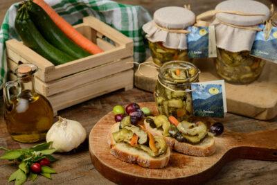 Zucchine Sott'olio - Zucca Sott'olio - Olive Sott'olio - Melenzane Sott'olio - Azienda Agricola l'Uliveto